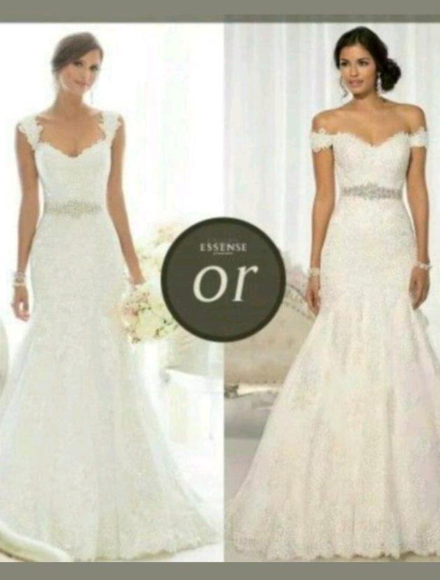 Designer trouwjurk van Essense of Australia maat 34-38