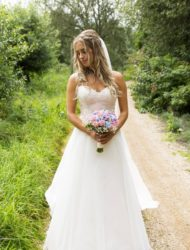 Blush trouwjurk