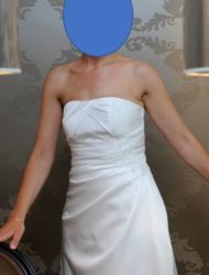 Strapless A-lijn trouwjurk Jessie K