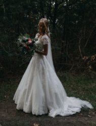 San Patrick trouwjurk met sluier en hoepel voor 50%!