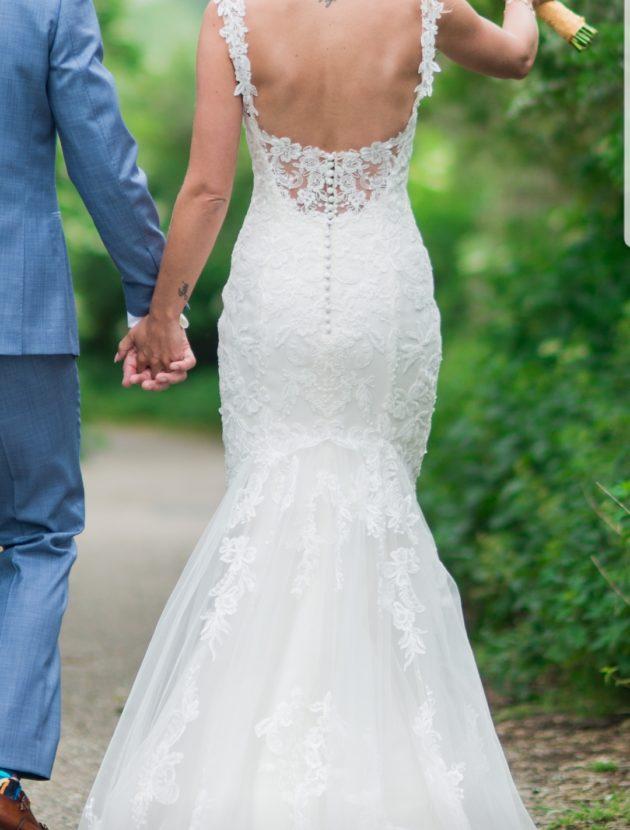 Fit and flare trouwjurk van Rebecca Ingram