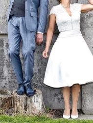 Fantastische jaren 50 trouwjurk Justin Alexander 8881