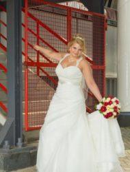 Tijdloze A-lijn bruidsjurk van het merk Sincerity