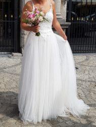 Mooie lichte trouwjurk a-lijn merk Ladybird