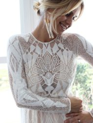 """Grace loves lace """"Soho"""" gown, bohemian, kant, maat 38"""