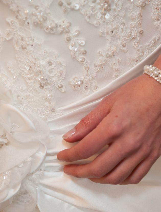 Prachtige bruidsjapon van Maggie Sottero (Perla Lynette), maat 34/36