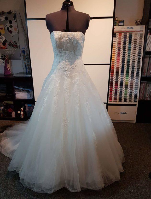 Pronovias trouwjurk 36 38 40 A-lijn strapless prinsessen