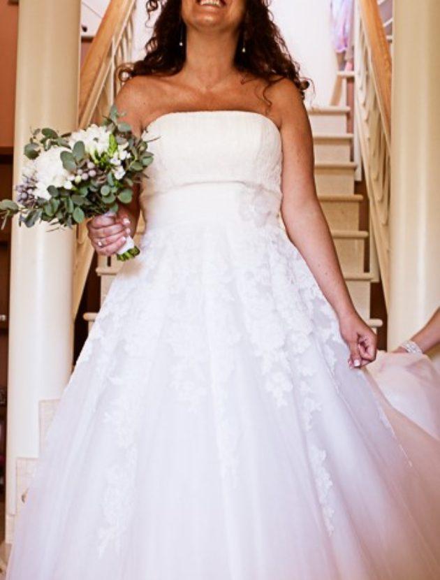 Pronovias strapless wedding dress /trouwjurk