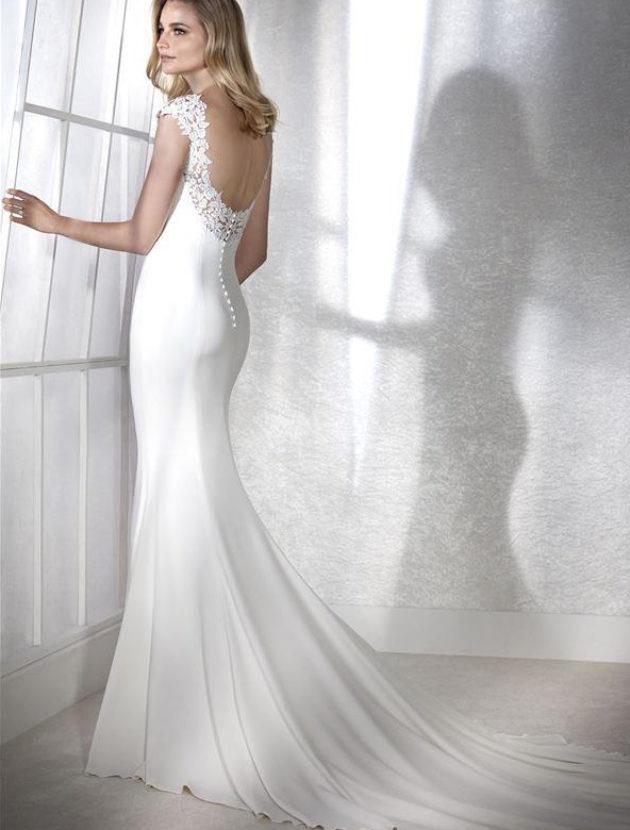 Trouwjurk Pronovias Model White One Fiana Maat 38 Yes