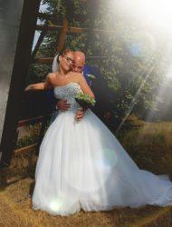 Mooie prinsessen jurk met glittertop