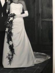 Prachtige trouwjurk, A-lijn, strapless, Romantica